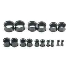 Hot Stainless Steel Screw Ear Gauges Flesh Tunnels Plugs Stretchers Expander 2pc