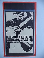 OSPAAAL CUBA Political Poster SOLIDARITY PEOPLE MOZAMBIQUE ORIGINAL 1966 33X53CM