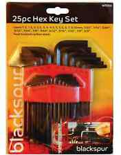 25 PCS HEX ALLEN KEYS SET WITH HOLDER CARBON STEEL HEXAGON  METRIC IMPERI WR266