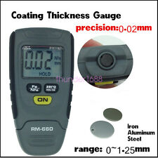 Auto Car Paint Coating Thickness Gauge Meter Tester 0-1.25mm Iron Aluminum Base