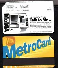NYC MetroCard Mta Transit* Museum of Modern Art  MoMa   *  Expired Metro Card