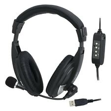 USB-HEADSET MIT MIKROFON | IDEAL FÜR GAMING SKYPE ETC. AN COMPUTER UND LAPTOP
