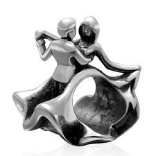 Solid 925 Sterling Silver Last Waltz Dancing Couple Charm Bead