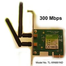 Adattatore Wireless PCI-E 300mb TP-LINK tl-wn881nd Wi-Fi 802.11b/g 2 antenna rimovibile