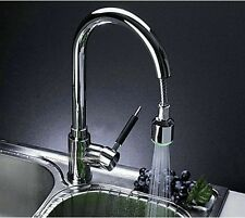 LED Pull Out Spray Tap Kitchen Sink Mixer  Faucet Chrome Swivel YD61