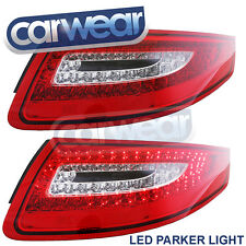 PORSCHE 911/ 997 2004-2008 CLEAR RED LED TAIL LIGHTS Carerra Turbo GT2 GT3 4S RS