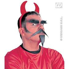 Devil Demon Fancy Dress Facial Hair Costume Kit Set - Tash - Beard - Eyebrows