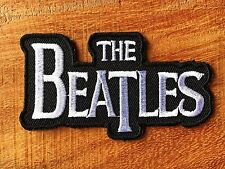 THE BEATLES Logo Badge Iron On Embroidered Applique Patch English rock pop band