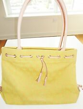 DOONEY BOURKE TOTE BAG YELLOW SIGNATURE DB LOGO LIMITED EDITION 100% AUTHENTIC