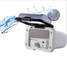 Mini Marine Waterproof Amplifier Housing + Handsfree Mini MIC - White