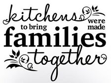 KITCHENS BRING FAMILIES TOGETHER Wall Art Decal Quote Words Lettering Decor DIY