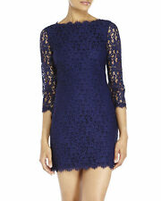 Diane Von Furstenberg 'COLLEEN' LACE SHIFT NVY (MIDNIGHT) DRESS sz 6