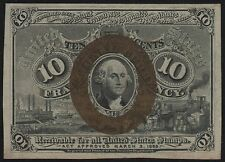 Fr1245 10¢ 2Nd Issue Fractional Currency W/ Surcharge Gem Cu Br3267