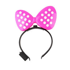 Blinking LED Flashing Light-Up Minnie Mouse Headband Polka Dot Bows Party Raves