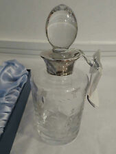 Carrs Sylvan Crystal Sterling Silver (Hallmarked) Body and Bath Carafe RRP 197.-