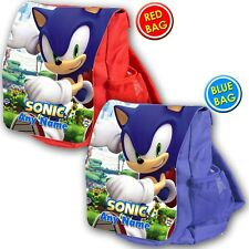 Personalised SONIC THE HEDGEHOG school bag kids childrens backpack rucksack NEW