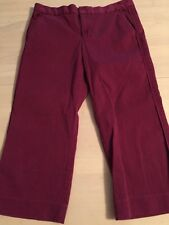 Marc Jacobs Trouser Style Red/Burgundy Women's Capris Size 6