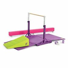 "American Girl MCKENNA DOLL GYM 24"" Balance Beam Bar Gymnastics Equipment Set EUC"