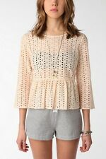 URBAN OUTFITTERS KIMCHI BLUE EDELWEISS EYELET BLOUSE M