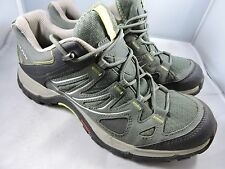 Salomon Ellipse Aero W Womens Hiking Shoes Titanium/Lizard Green Size 7
