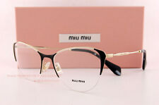 Brand New Miu Miu Eyeglass Frames MU 50O 50OV 1AB Black/Gold Women