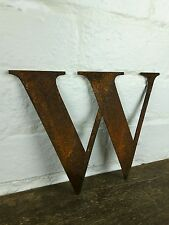 W Rusty oxidados Metal Acero Carta Shabby Chic Industrial signo Decoración Regalo