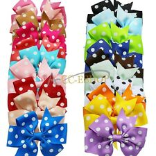 20pcs Hair Bow Boutique Girl Baby Grosgrain Ribbon Alligator Clips Lot New