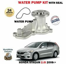 FOR HONDA STREAM 2.0i R20ARN8 RN9 2006-  NEW WATER PUMP AND SEAL SET
