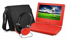 Ematic EPD909RD 9-Inch Portable DVD Player with Matching Headphones & Bag - Red
