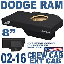 "02-16 DODGE RAM QUAD CREW CAB TRUCK 8"" SUB BOX SUBWOOFER ENCLOSURE GROUND-SHAKER"