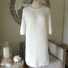 *NEW* Zara Ivory Off-White Beige Knit Tunic Sweaterdress Dress. Medium NWT