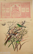 Painting Legal Stamp Vintage Antique Bird  Painting Forest Artwork Basil Ede