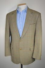 "vtg BURBERRY CHECKED PLAID WOOL COUNTRY SUIT SMART JACKET BLAZER size 42"" CHEST"