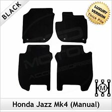 Honda Jazz Manual Mk4 2015 onwards Tailored LUXURY 1300g Carpet Floor Mats BLACK