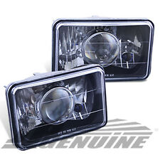 4X6 BLACK HOUSING DIAMOND CUT PROJECTOR HEADLIGHTS - UNIVERSAL