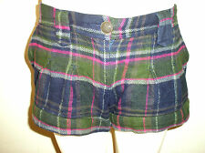 Gorgeous Green, Blue & Pink Check Shorts from Next - Size 10