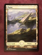 Battle for Zendikar Full Art Land  Plains #254  VO  -  MTG Magic (Mint/NM)