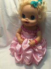 "Fits 15"" 16"" Baby Alive Doll Clothes Princess Belle Inspired Dress Gown Pink NEW"