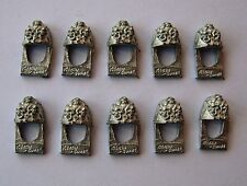 10 DEATH GUARD SHOULDER PADS  / CHAOS SPACE MARINES  METAL WARHAMMER 40K