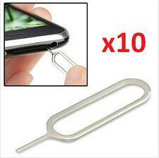 lots 10pcs Sim Card Tray Remover Eject Ejector Pin Key Tool for iPhone 6 5S 4S