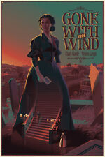Laurent Durieux • Gone With The Wind Variant Poster Screen Print • Limited /145