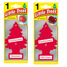 2 x Magic Tree Little Trees Car Air Freshener Scent STRAWBERRY+ WILD CHERRY