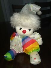 Vintage 1986 Poter Plush Musical Wind-Up Doll Plays It's A Small World. Rainbow