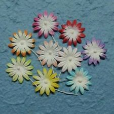 ***PK 10 MIXED DAISY FLOWERS EMBELLISHMENTS  FOR CARDS OR CRAFTS **