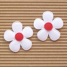 """US SELLER- 60 x (1 3/8"""") White Padded Felt Flower Appliques for Bows/Card ST559R"""