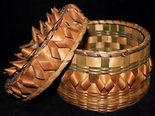 Vintage Covered Passamaquoddy Basket from Maine