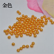 Wholesale 100-1000PCS 10/12/14mm no hole round ABS pearl beads diy