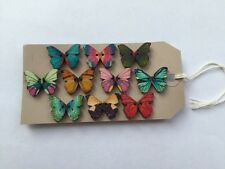 10 X Butterfly Double Pin Push Pins Notice Board/Cork Notice Board/Thumb Tack
