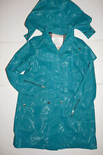 New Authentic BURBERRY Children Girls Kids Green Trench Coat Size 14Y