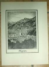 Meran Merano Südtirol: großf. Ansicht Druck 1920